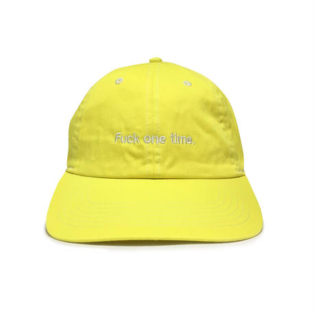 """F**k one time"" SUMMER RESORT 6PANEL CAP (PINE YELLOW)"