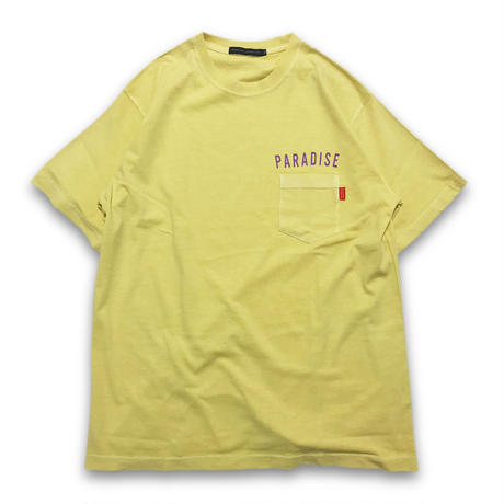 """VINTAGE WASHED"" POCKET T-SHIRTS (OLD YELLOW)"