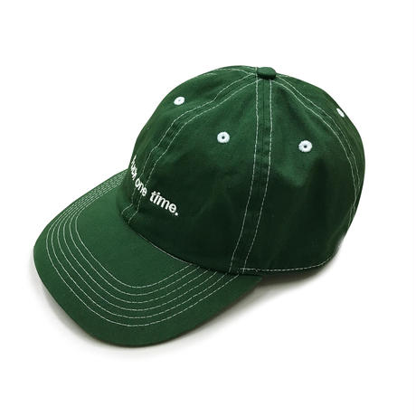 """F**k one time"" 6PANEL CAP (BILLIARD GREEN)"