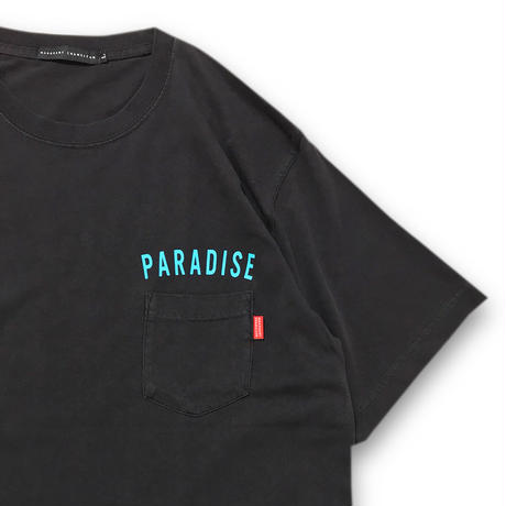 """VINTAGE WASHED"" POCKET T-SHIRTS (SMOKEY BLACK)"