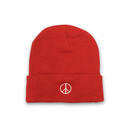 PEACE BEANIE (RED)
