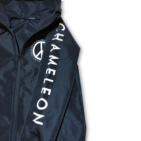 """WHO SHOT YA?"" NYLON HOODED TRACK JACKET"