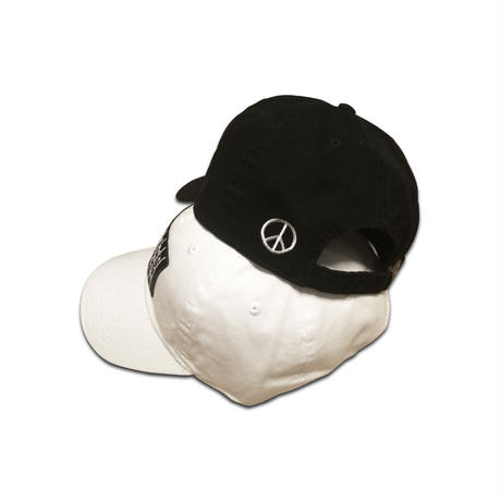 """LOVE & PEACE"" 6PANEL CAP (BLACK)"