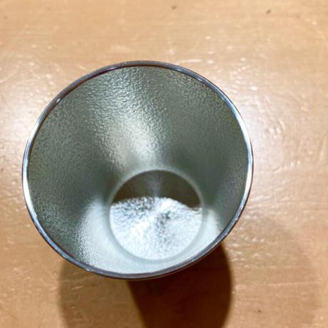 【大阪錫器】 ぐい吞み 「群星」朱 ・黒