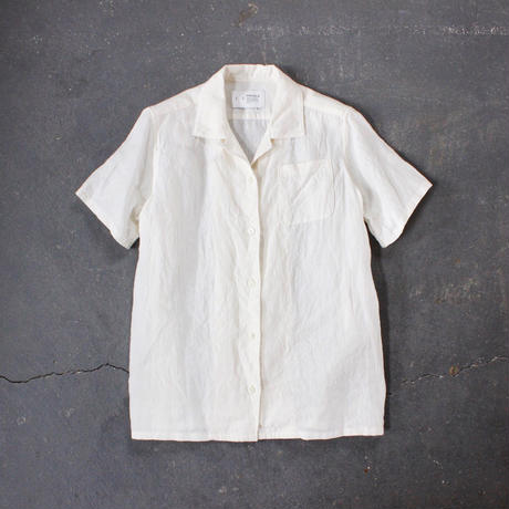 open necked linen shirt/OF