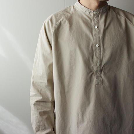 weather cloth /raglan shirt/beige/size2(MAN)