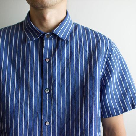 original cotton linen/ short sleeve shirt/blue/size1(MAN)