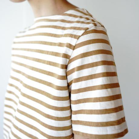 pablo cotton/center back tshirt /beige  border/size1・2