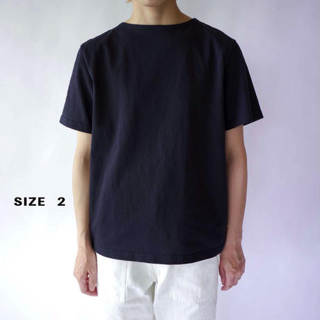 pablo cotton/center back tshirt / navy/size1・2