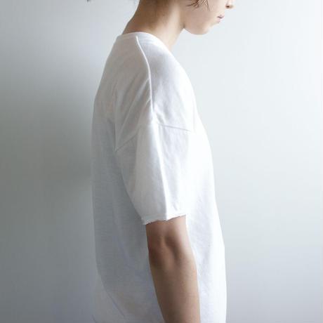 dual-layered fabric tshirt/white