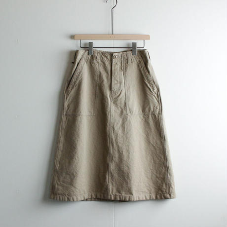 original cotton twill/baker skirt/sandbeige