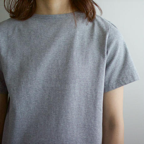 pablo cotton/center back tshirt / gray heather/size1・2/size1sold