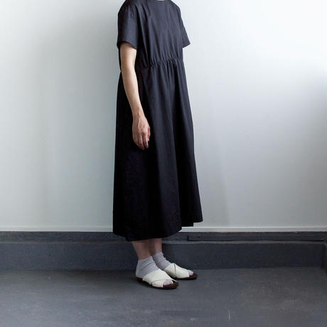 weather cloth cotton linen/gather one piece