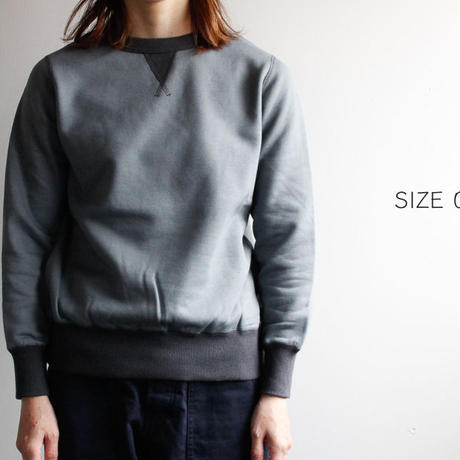 sulfide dyed sweat tops/gray