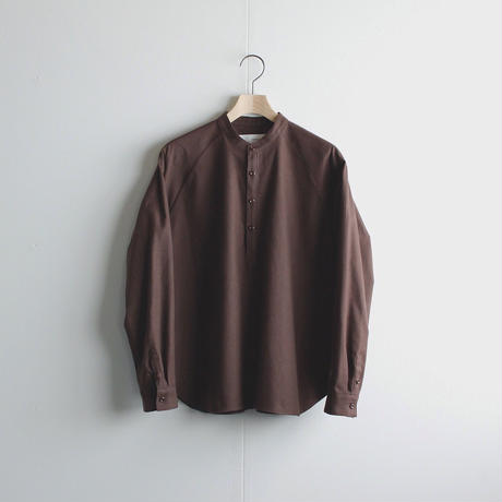 cotton flannel/raglan shirt/brown/size1