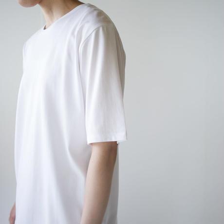 cotton silk/half sleeve tshirt / white/size1・2