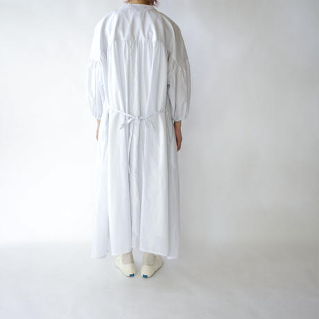 striped cotton/gather dress