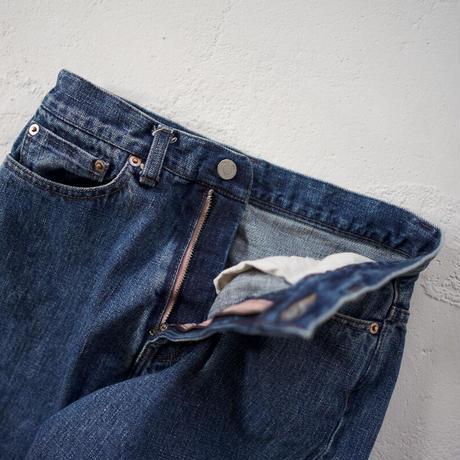 14oz.selvedgedenim jeans/vintage wash/wide straight