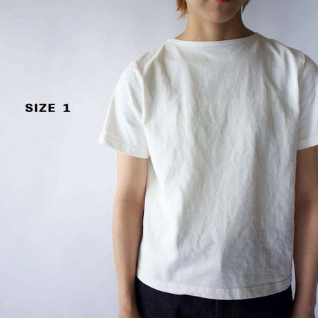 pablo cotton/center back tshirt / white/size1・2