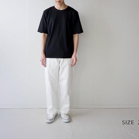 cotton silk/half sleeve tshirt / black/size1・2