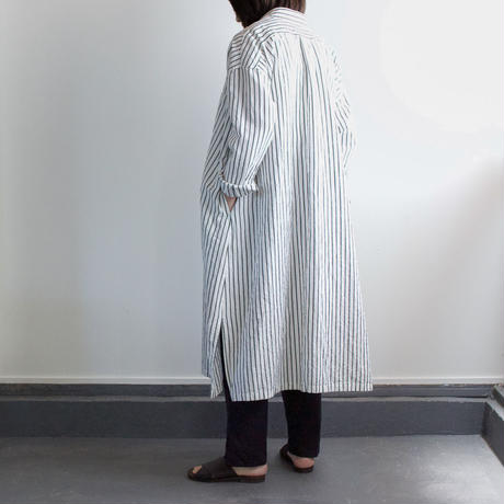 original cotton linen/ long shirt one piece/white