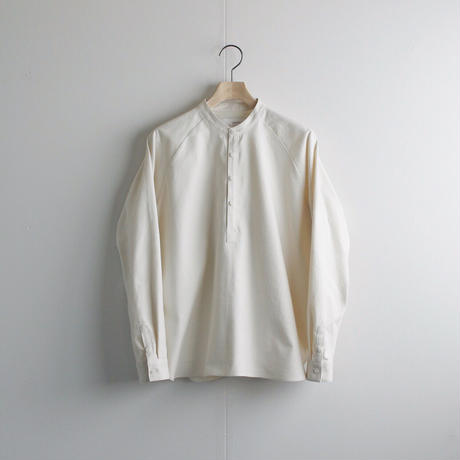 cotton flannel/raglan shirt/Ivory/size1