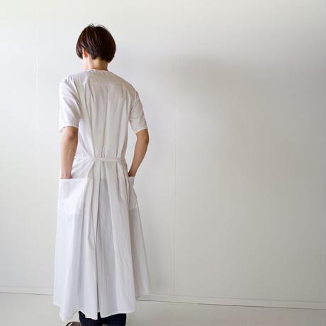 air tumbler cotton/tuck gather onepiece/white