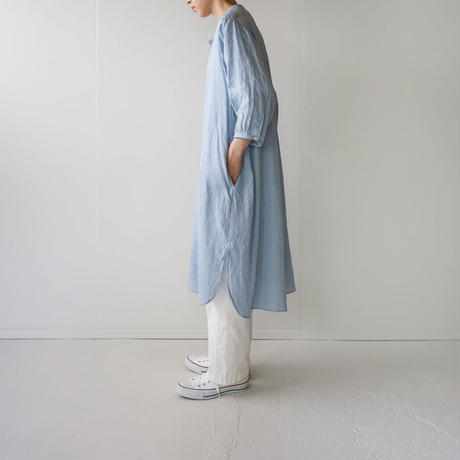 canvas washer french linen/one piece/light blue