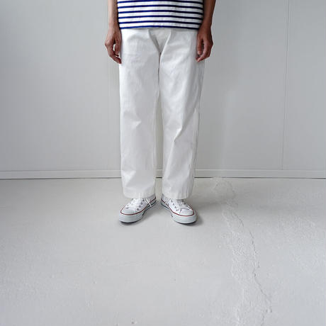 chino cotton pants/white