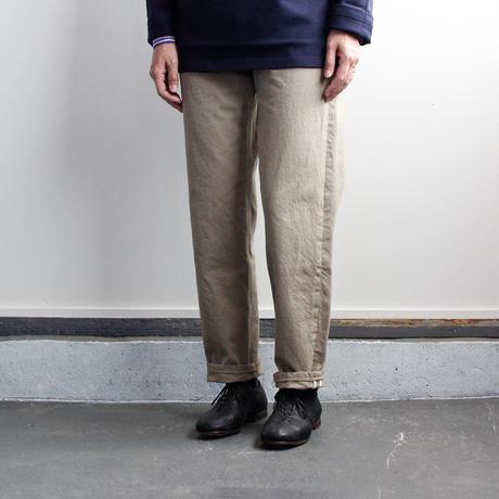 cotton twill pants/beige