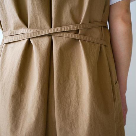 air tumbler cotton/tuck gather onepiece/beige