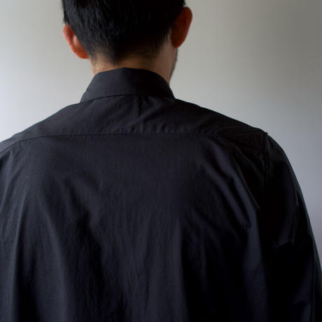 air tumbler cotton/modest stitch shirt/black/size2(MAN)