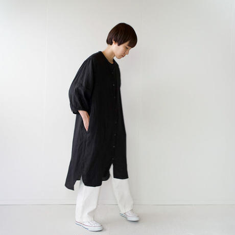 canvas washer french linen/one piece/black