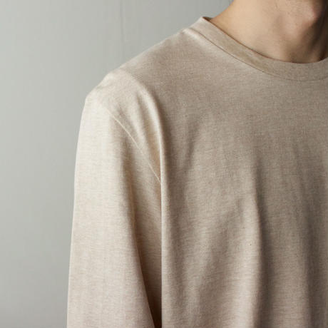 combed yarn /enbroidery mark tshirt/heather beige/size2