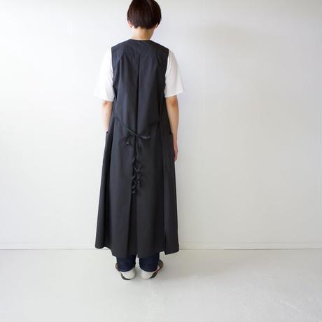 air tumbler cotton/tuck gather onepiece/black