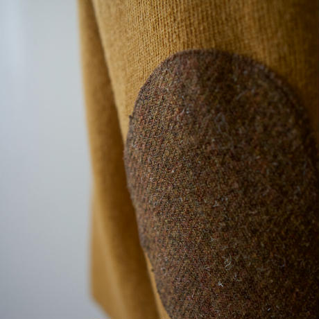 elbow patch knit/vintage brown