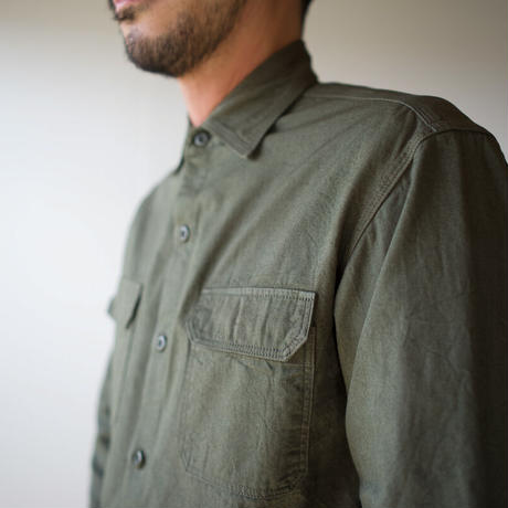 cotton ox work shirt/khaki/size3