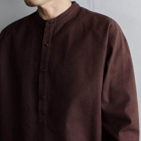 cotton flannel/raglan shirt/brown/size2(MAN)