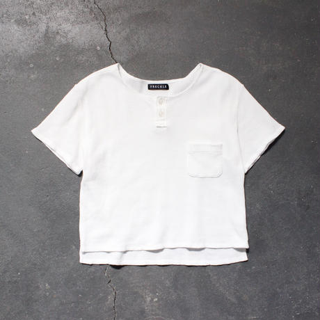 waffle henley neck cut and sewn/OF