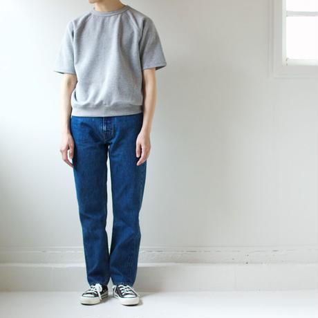 hanging sweat shirt/half sleeve/gray