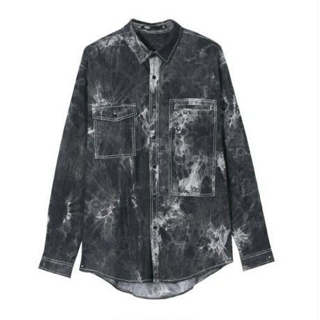 メンズ/黒デニム/ムラ染め/長袖シャツ