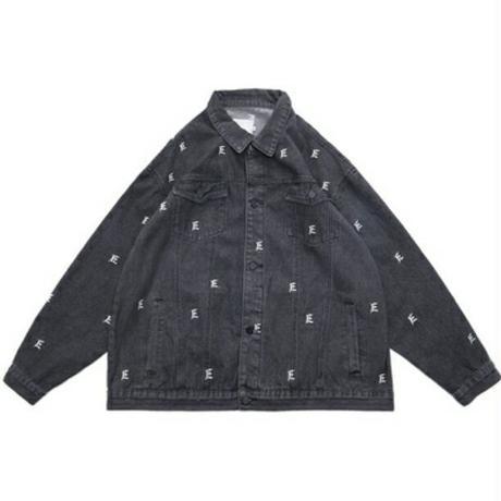 メンズ/オーバーサイズ/黒デニムジャケット