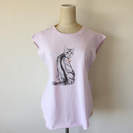 KELLY SMITH CAT T-SHIRT (PINK)