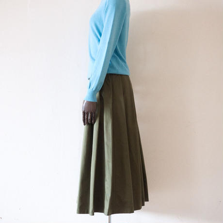 Tailor the Dress / Tuck Volume Skirt - Olive