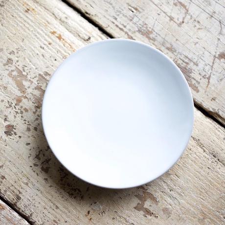 藤山窯 / 5寸皿 - ミルク  -   プレーン