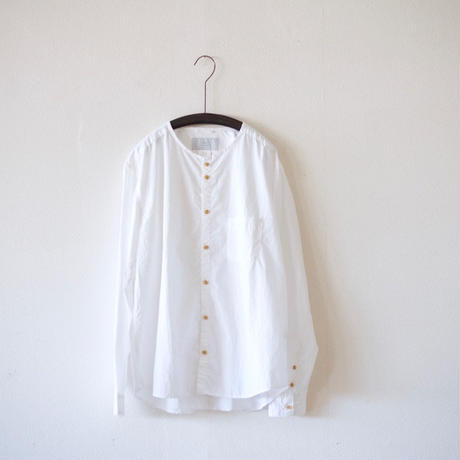 MUYA / Stand collar Nerd shirts - White