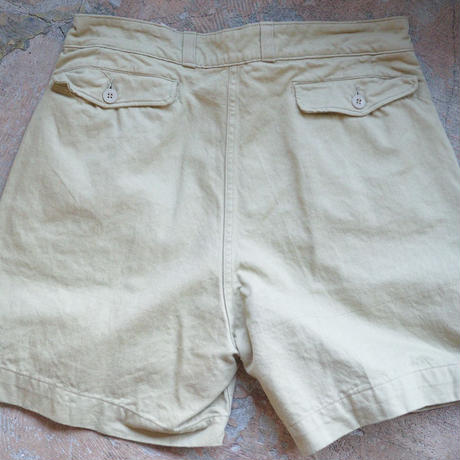 DEAD STOCK / FRENCH ARMY CHINO SHORTS - BEIGE