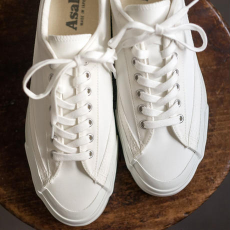 <Last 1 > ASAHI BELTED LOW CANVAS  /  -  WHITE