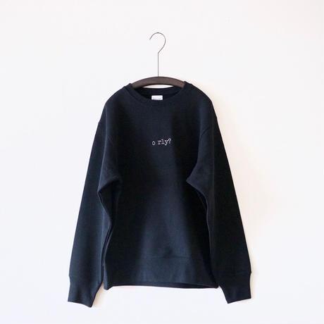 ajouter OriginalSweatshirts / o rly?  /  ブラック ×  ウォームグレー