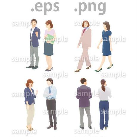 ビジネス人物イラスト (EPS , PNG )   bu_004